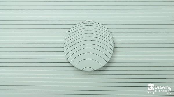 Dibujo de esfera 3D 5