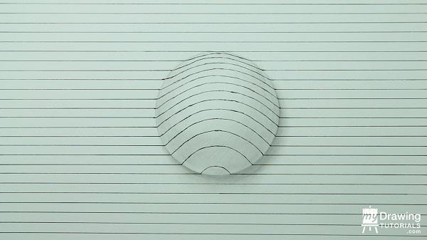 Dibujo de esfera 3D 7