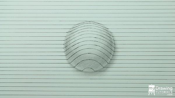 Dibujo de esfera 3D 8