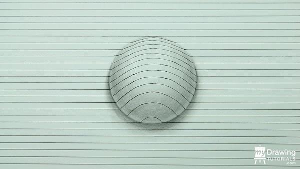 Dibujo de esfera 3D 9