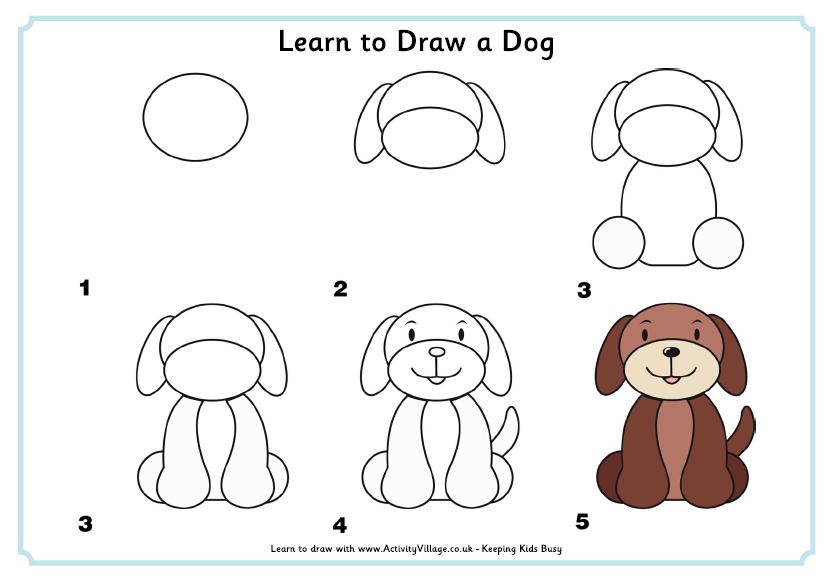 love ideas Como dibujar un perro Aprender a dibujar animales Perritos para dibujar, dibujos de Un Perro Sencillo, como dibujar Un Perro Sencillo paso a paso