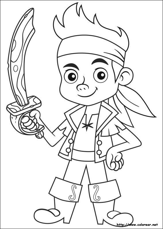 Dibujo de El Pirata Jake para colorear Dibujos para colorear imprimir gratis, dibujos de Jake Piratas, como dibujar Jake Piratas paso a paso