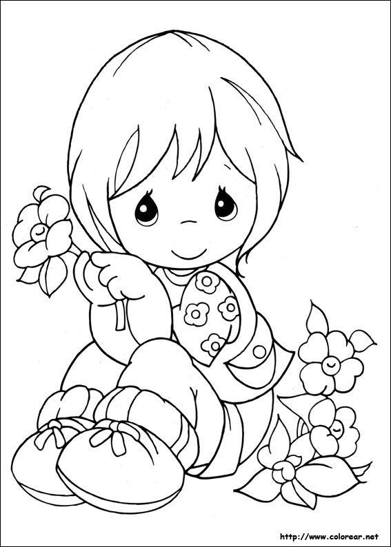 Dibujos para colorear de Preciosos Momentos Libro de colores Dibujos infantiles Dibujos, dibujos de Preciosos Momentos, como dibujar Preciosos Momentos paso a paso