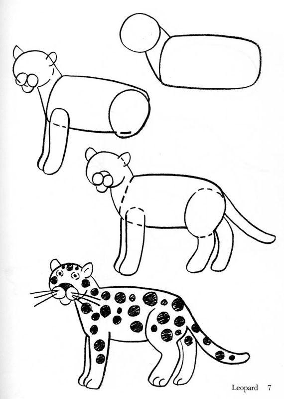 Como dibujar animales fácilmente para niños  Como dibujar animales  faciles  Como dibujar animales  Aprender a dibujar animales, dibujos de Un Jaguar, como dibujar Un Jaguar paso a paso