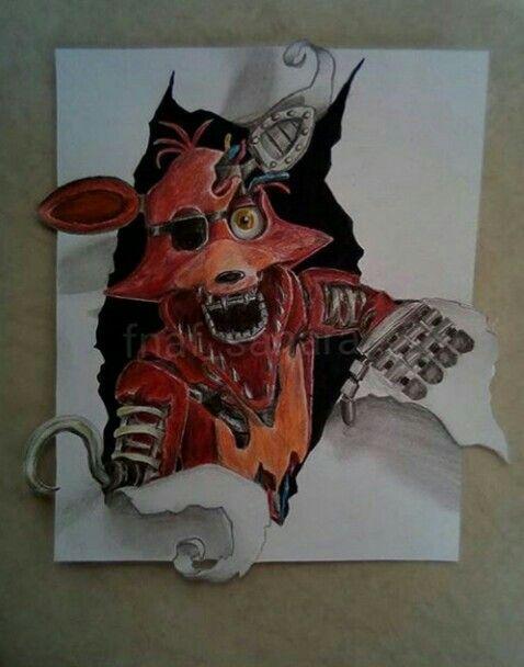 Dibujo de Foxy FNAF  Dibujos de foxy  Fnaf dibujos  Dibujos, dibujos de A Foxy De Fnaf, como dibujar A Foxy De Fnaf paso a paso