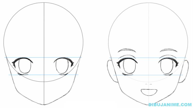 Como dibujar a una mujer anime (cuerpo y rostro) – Paso a paso  Aprender a  dibujar anime  Como dibujar animes  Como aprender a dibujar, dibujos de Caras Y Rostros Animé, como dibujar Caras Y Rostros Animé paso a paso