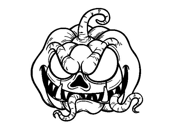 Dibujo de Calabaza terrorífica para Pintar y Colorear en Línea Dibujos de calabazas halloween Dibujo de calabaza Calabazas de halloween, dibujos de Una Terrorífica Calavera Para Halloween, como dibujar Una Terrorífica Calavera Para Halloween paso a paso