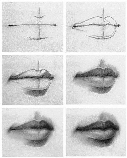 Cómo Aprender A Dibujar Labios Paso A Paso De Cualquier Persona  Dibujos  de labios  Dibujos de ojos  Bocetos, dibujos de Unos Labios A Lápiz, como dibujar Unos Labios A Lápiz paso a paso