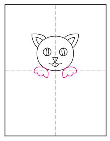 Dibujar gato de halloween