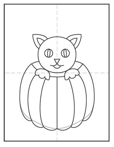 dibujar cosas de halloween paso a paso