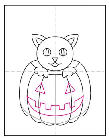 dibujos de halloween paso a paso