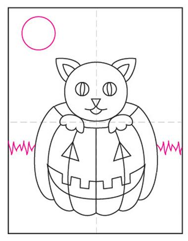 dibujar halloween facil paso a paso