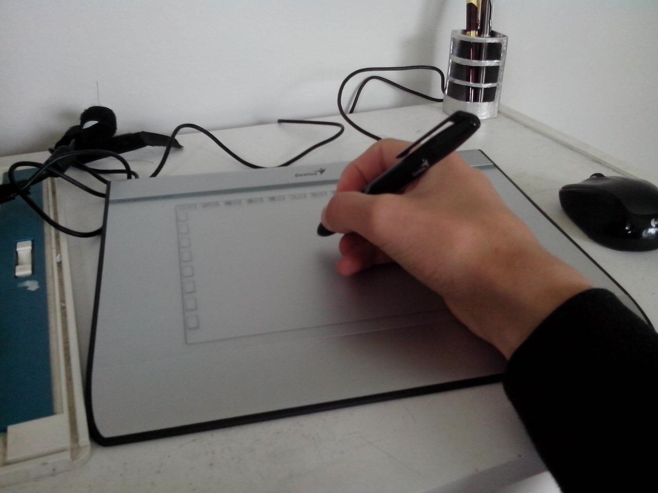 Uso básico de una tableta gráfica