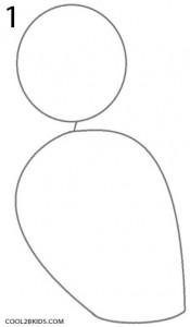 Cómo dibujar Jack Skellington Paso 1