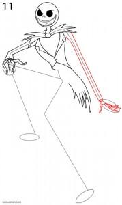Cómo dibujar Jack Skellington Paso 11