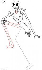 Cómo dibujar Jack Skellington Paso 12