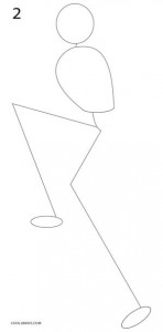 Cómo dibujar Jack Skellington Paso 2