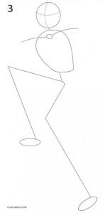 Cómo dibujar Jack Skellington Paso 3
