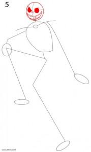 Cómo dibujar Jack Skellington Paso 5