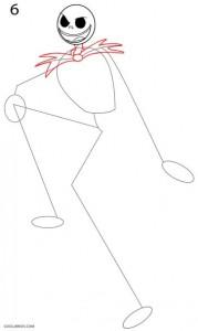 Cómo dibujar Jack Skellington Paso 6
