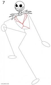 Cómo dibujar Jack Skellington Paso 7