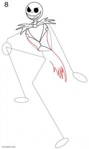 Cómo dibujar Jack Skellington Paso 8
