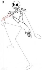 Cómo dibujar Jack Skellington Paso 9