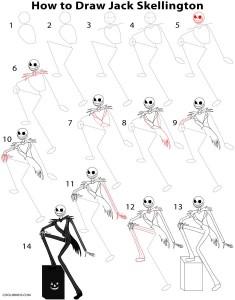 Cómo dibujar Jack Skellington paso a paso