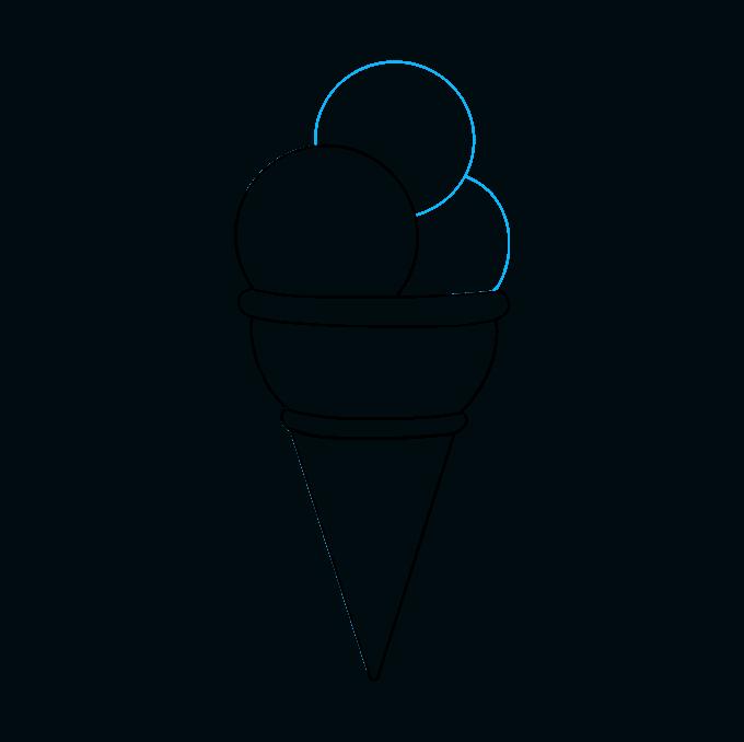 Cómo dibujar helado: paso 6