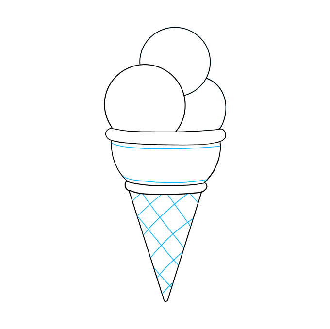 Cómo dibujar helado: Paso 7