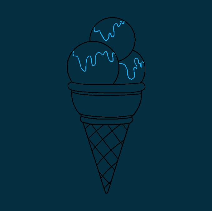 Cómo dibujar helado: Paso 8
