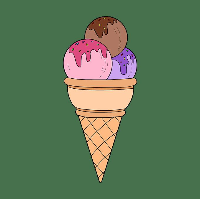 Cómo dibujar helado: Paso 10