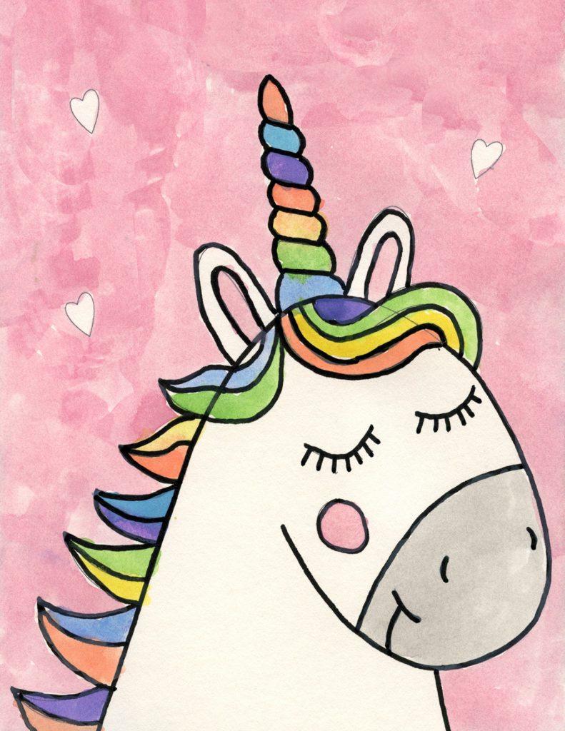 Cómo Dibujar Un Unicornio De Arcoíris Paso A Paso Muy Fácil 2021 Dibuja Fácil
