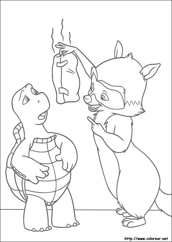 Dibujos para colorear de Vecinos invasores, dibujos de Vecinos Invasores, como dibujar Vecinos Invasores paso a paso
