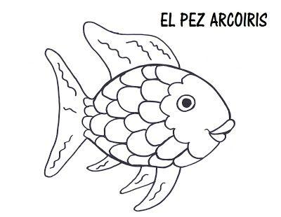 Actividades CUENTO: El Pez Arcoiris Pez para colorear Peces arco iris Plantilla de pez, dibujos de El Pez Arcoiris, como dibujar El Pez Arcoiris paso a paso