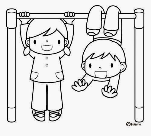 Dibujos-para-colorear-de-niños-gratis-2 - jpg (500×450)  Dibujo de niños  jugando  Arte para niños  Dibujos para colorear, dibujos de 2 Niños Jugando, como dibujar 2 Niños Jugando paso a paso