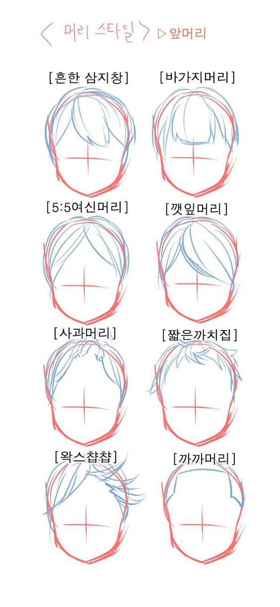 Pin en cara, dibujos de Flequillo, como dibujar Flequillo paso a paso