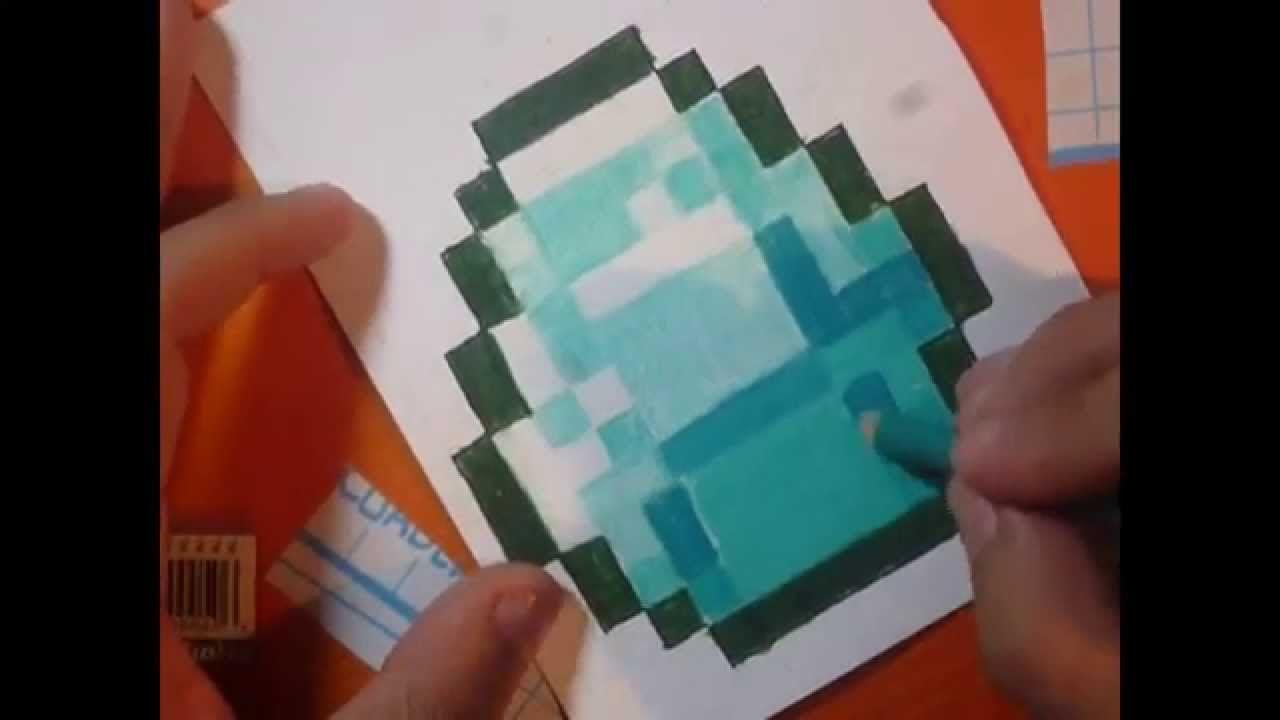 Como dibujar un Diamante de minecraft paso a paso  tiempo real y speed  -  -  -    Como dibujar un diamante  Dibujos  Dibujo paso a paso, dibujos de Minecraft, como dibujar Minecraft paso a paso