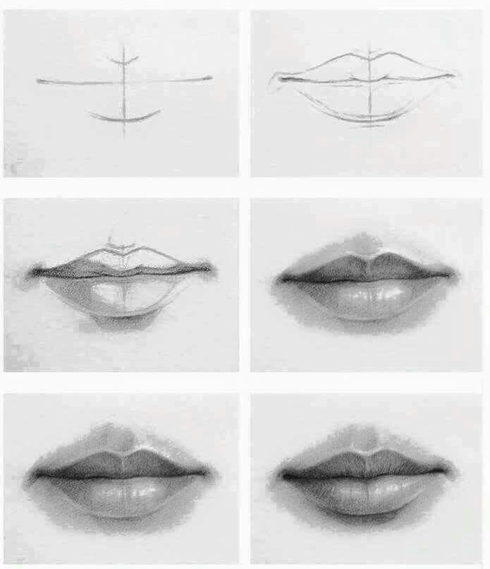 Como dibujar unos labios  Dibujos de labios  Boceto de labios  Como  dibujar labios, dibujos de Unos Labios A Lápiz, como dibujar Unos Labios A Lápiz paso a paso