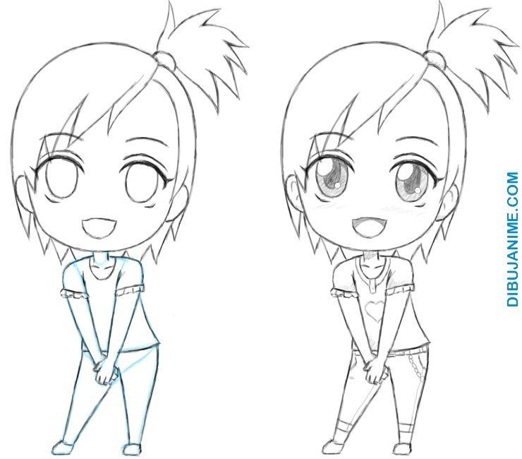 Como dibujar Chibis anime (Mujer y Hombre) Tutorial Paso a paso Dibujos Dibujos kawaii Dibujos de anime, dibujos de Animé Chibi, como dibujar Animé Chibi paso a paso
