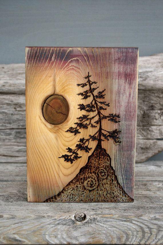 Ancient Tree - Art Block - Woodburning  Arte de árboles  Arte de madera  ardiente  Arte en madera, dibujos de En Madera, como dibujar En Madera paso a paso
