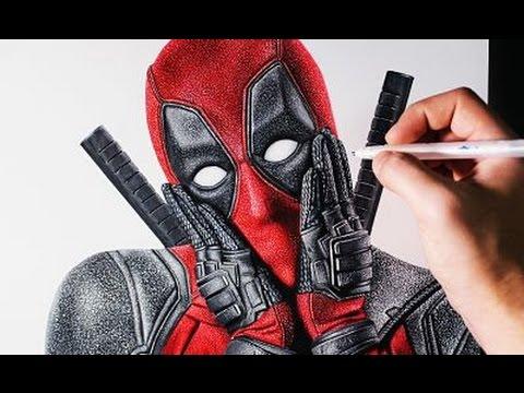 Como dibujar a Deadpool Súper Realista, dibujos de A Deadpool Super Realista, como dibujar A Deadpool Super Realista paso a paso