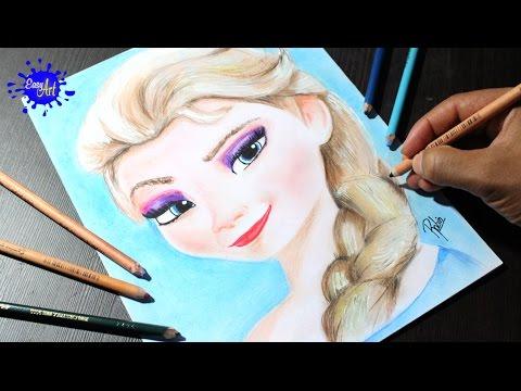 Como dibujar a Elsa de Frozen paso a paso, dibujos de A Elsa De Frozen En Primer Plano, como dibujar A Elsa De Frozen En Primer Plano paso a paso