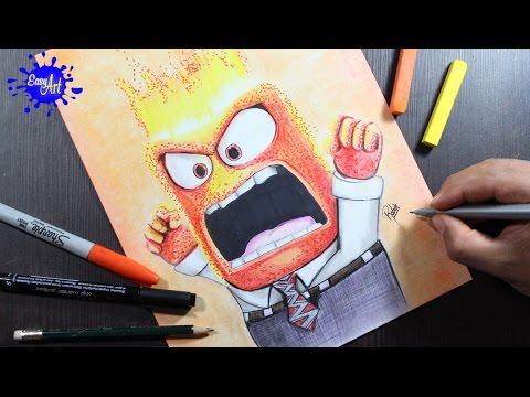 Como dibujar a Ira de Inside Out, dibujos de A Ira De Inside Out, como dibujar A Ira De Inside Out paso a paso