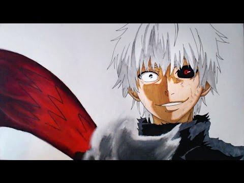 Como Dibujar a Kaneki Ken de Tokyo Ghoul, dibujos de A Kaneki Ken De Tokyo Ghoul, como dibujar A Kaneki Ken De Tokyo Ghoul paso a paso