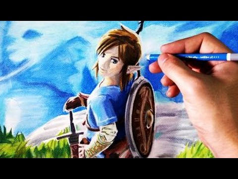 Cómo dibujar a Link de la Leyenda de Zelda  Tutorial de dibujo paso a paso, dibujos de A Link De The Legend Of Zelda, como dibujar A Link De The Legend Of Zelda paso a paso