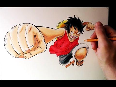 Como dibujar a Luffy de One Piece, dibujos de A Luffy De One Piece, como dibujar A Luffy De One Piece paso a paso