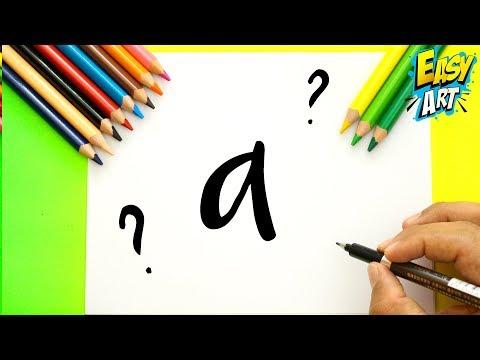 Como dibujar a partir de letras, dibujos de Un Monstruito A Partir De La Letra A, como dibujar Un Monstruito A Partir De La Letra A paso a paso