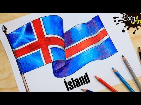 Dibujo de Bandera de Islandia para colorear  Dibujos para colorear  imprimir gratis, dibujos de La Bandera De Islandia, como dibujar La Bandera De Islandia paso a paso