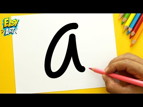 Como dibujar a partir de letras, dibujos de A Partir De La Letra A, como dibujar A Partir De La Letra A paso a paso